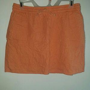 Orange - •Forever 21 Essentials•   Linen Skirt